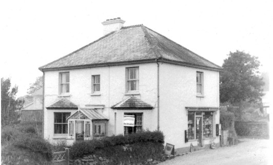 Old photograph of Mary Tavy Post Office