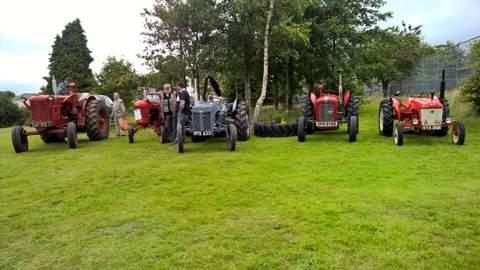 Vintage tractors at the Village Show