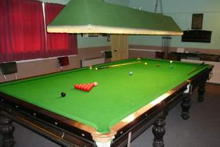 Snooker table at the Reading Rooms